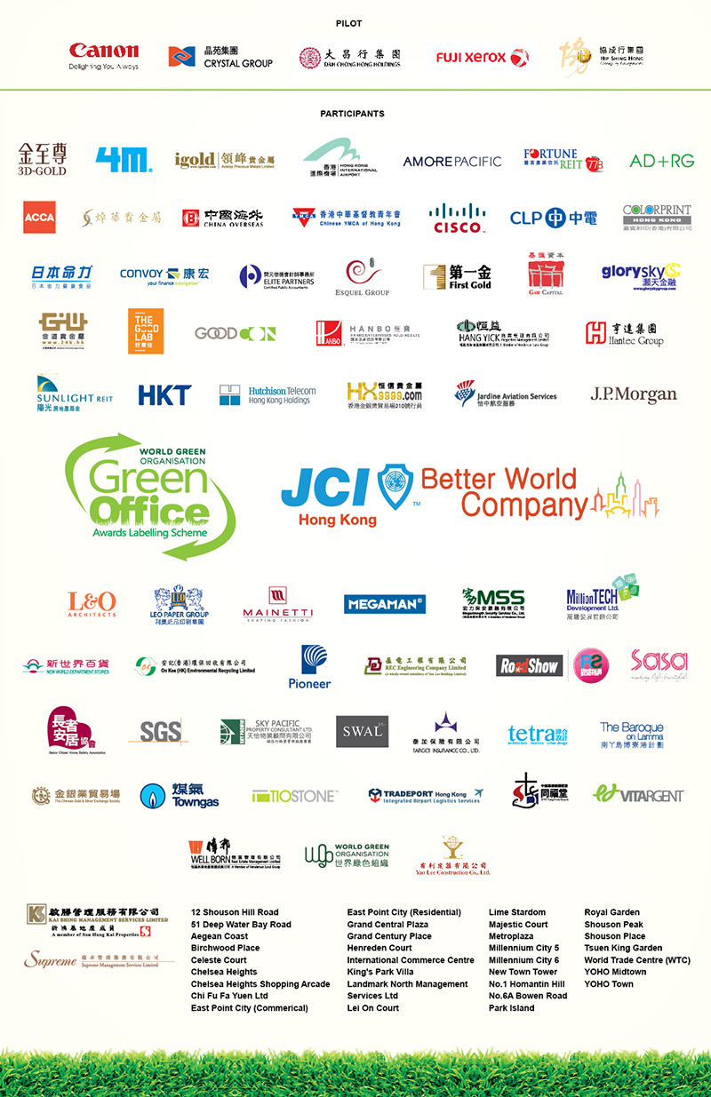 WGO Green Office 2014 awardees company list