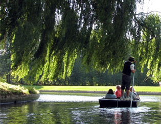 Punting on the famous and historical River Cam
