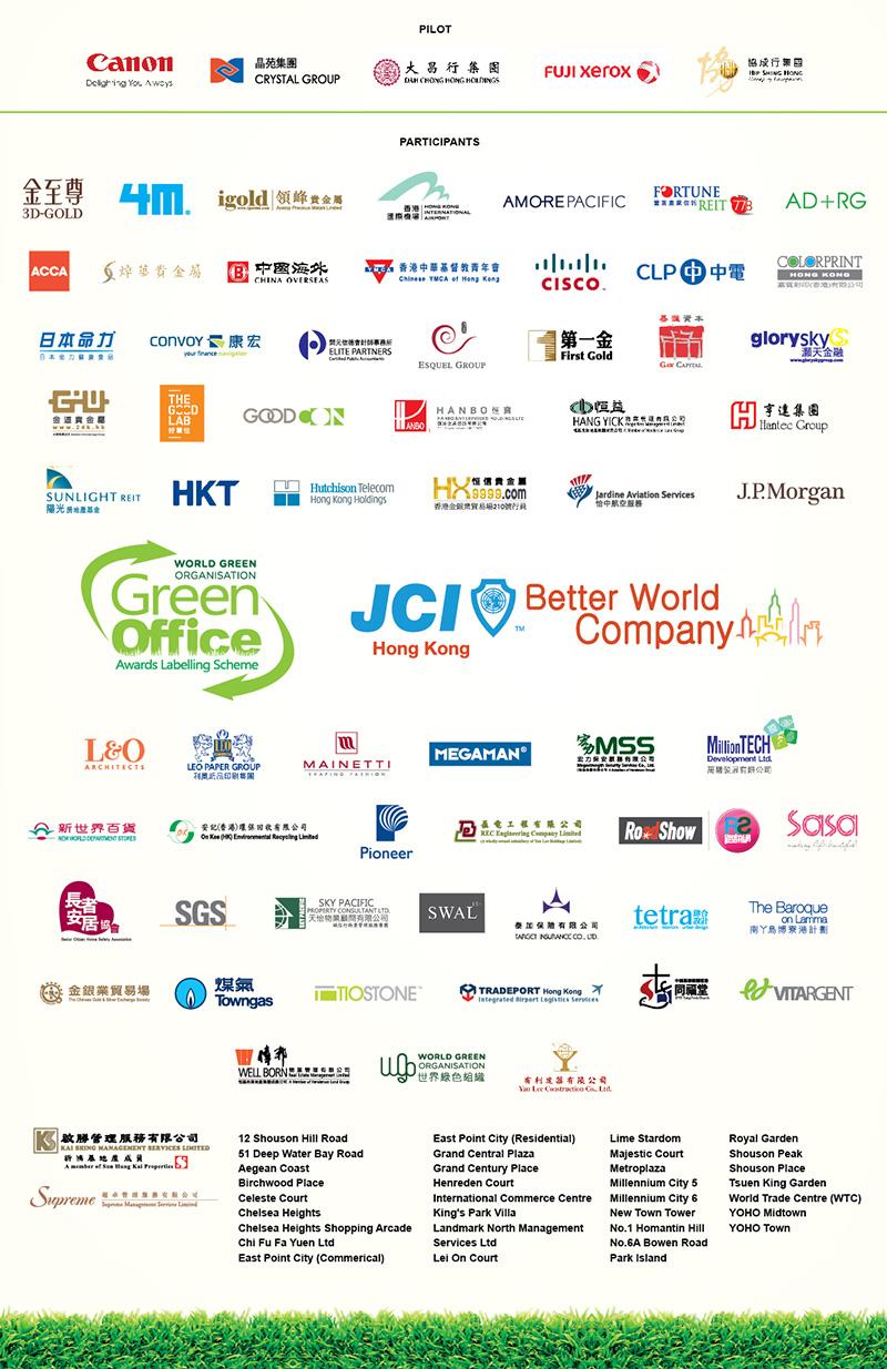 WGO Green Office 2014 awardees company list